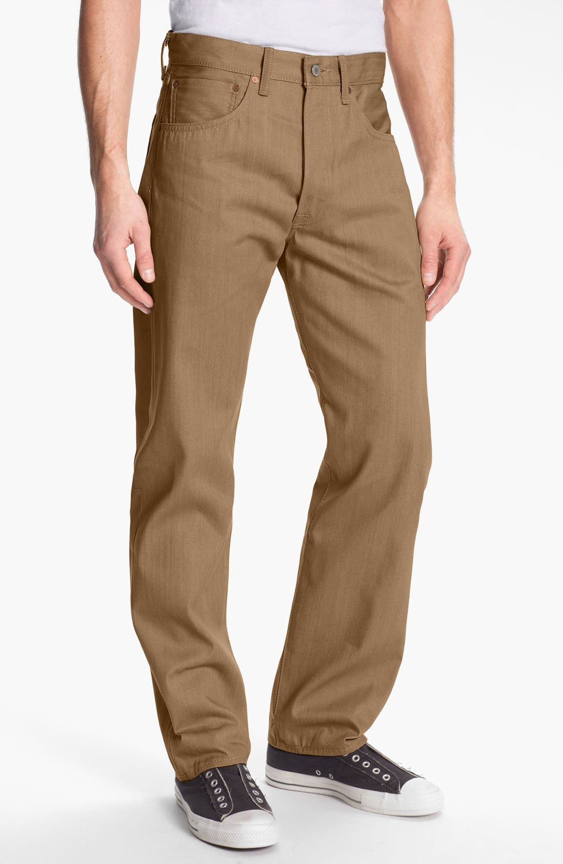 Alternate Image 1 Selected - Levi's® '501®' Shrink-To-Fit™ Straight Leg Pants