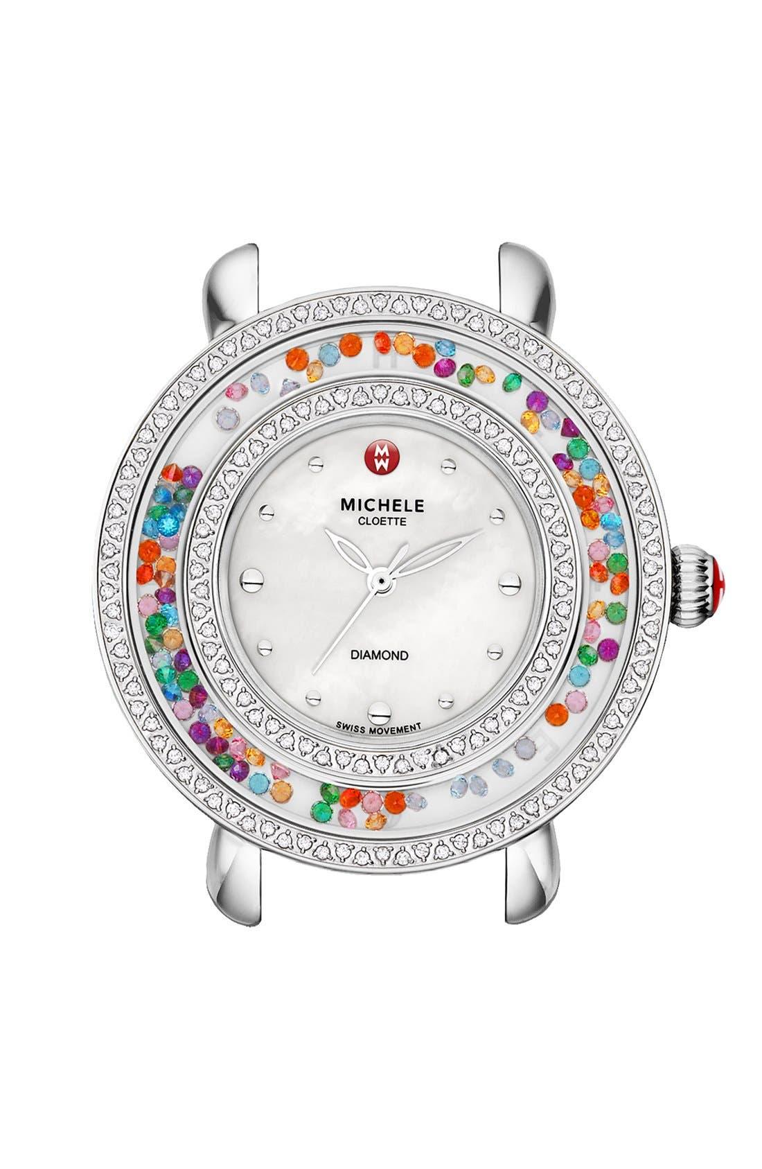 Main Image - MICHELE 'Cloette Carnival' Diamond Watch Case, 38mm
