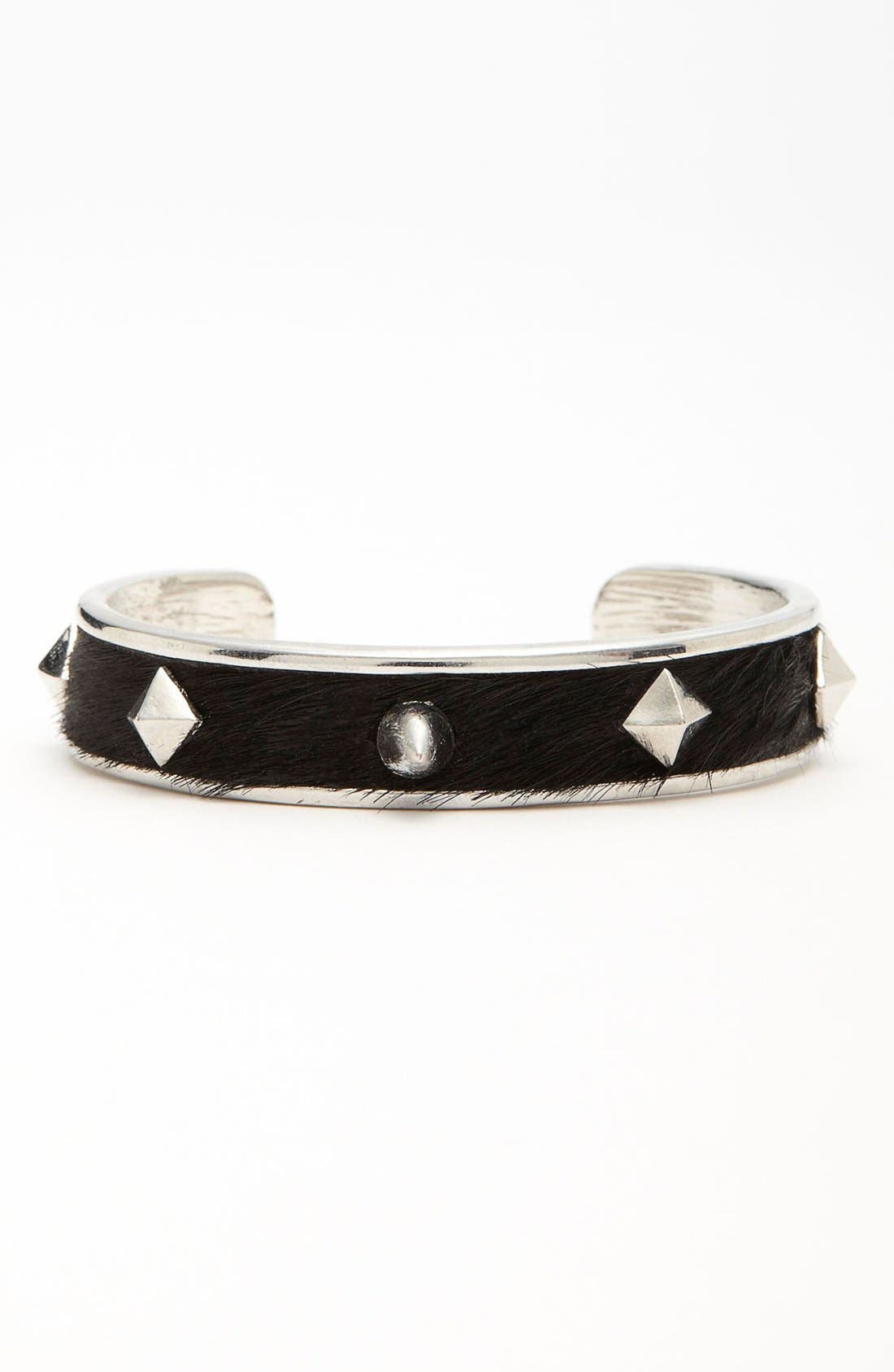 Alternate Image 1 Selected - Carbon Copy Calf Hair Spike Cuff