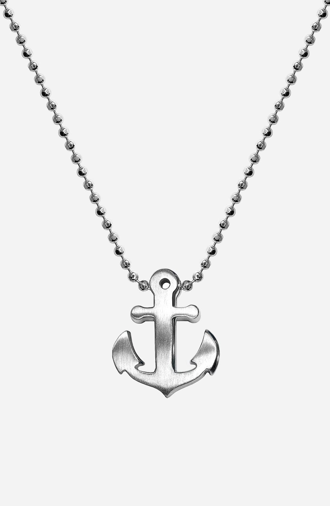Alternate Image 1 Selected - Alex Woo 'Little Seasons' Anchor Pendant Necklace