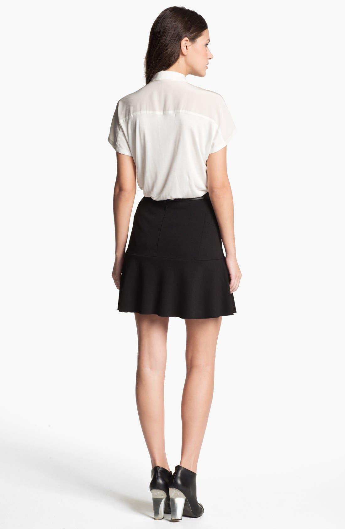 Alternate Image 4  - Robbi & Nikki Asymmetrical Ruffle Skirt