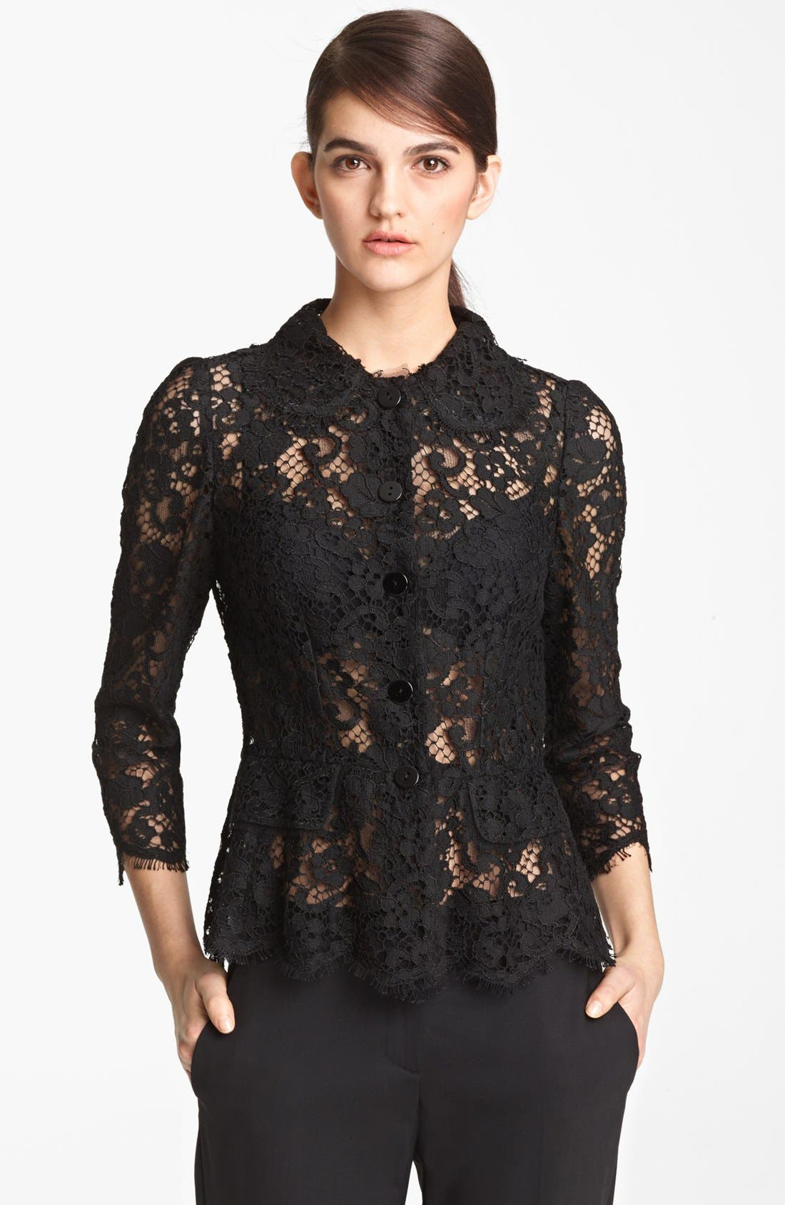 Alternate Image 1 Selected - Dolce&Gabbana Sheer Lace Jacket