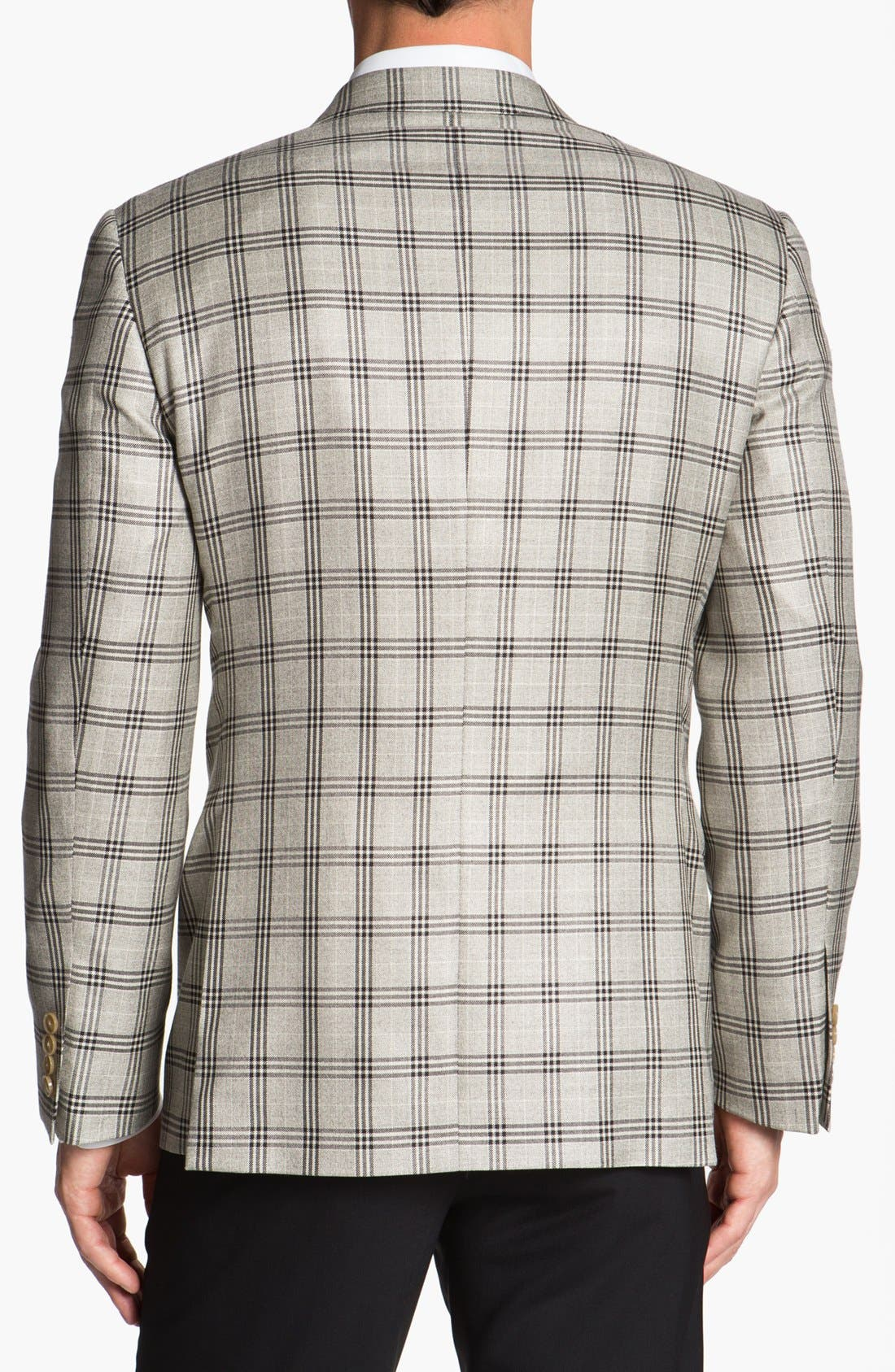 Alternate Image 3  - Joseph Abboud 'Platinum' Plaid Wool Sportcoat