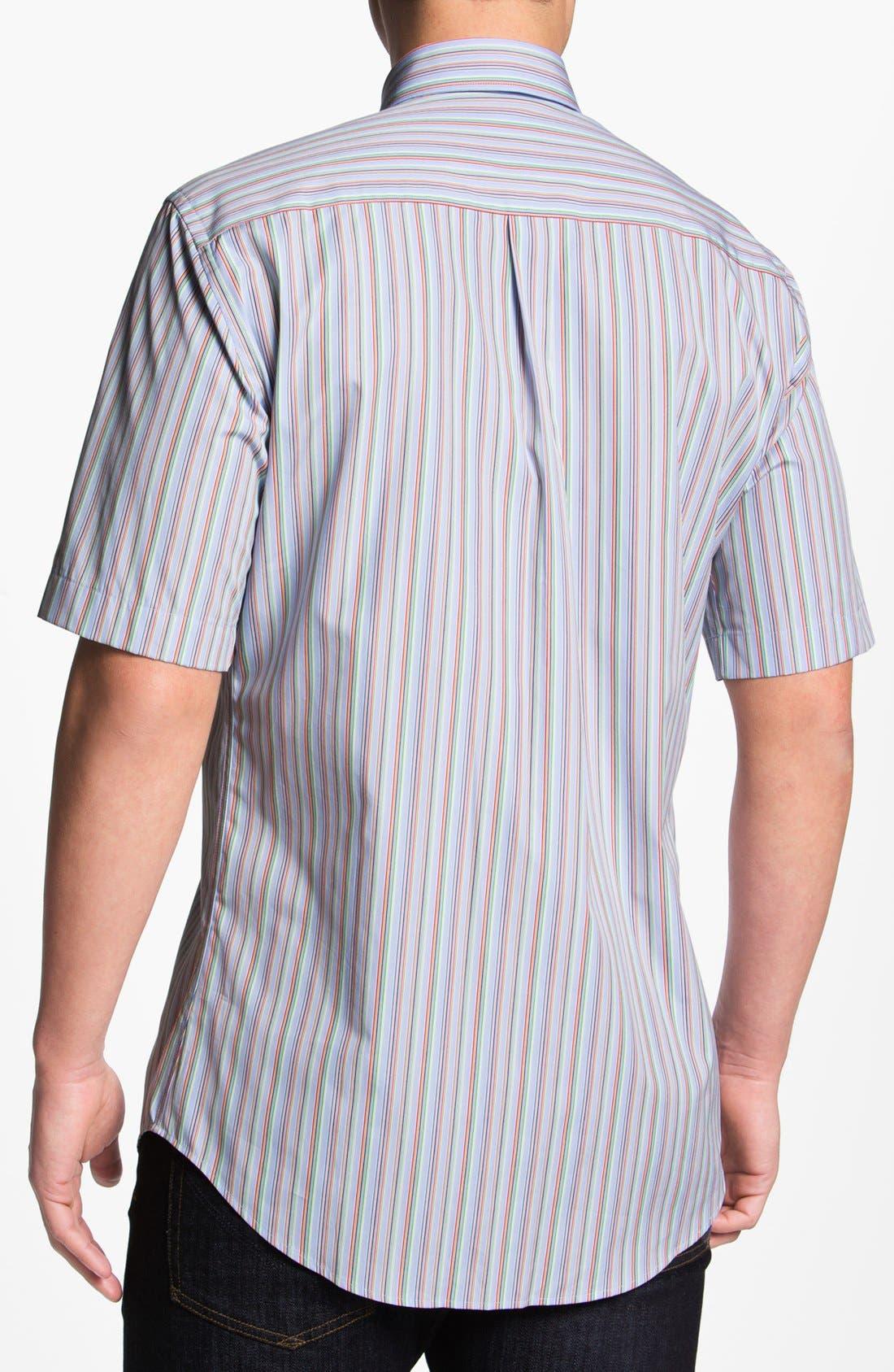 Alternate Image 2  - Peter Millar 'Pop' Regular Fit Short Sleeve Sport Shirt
