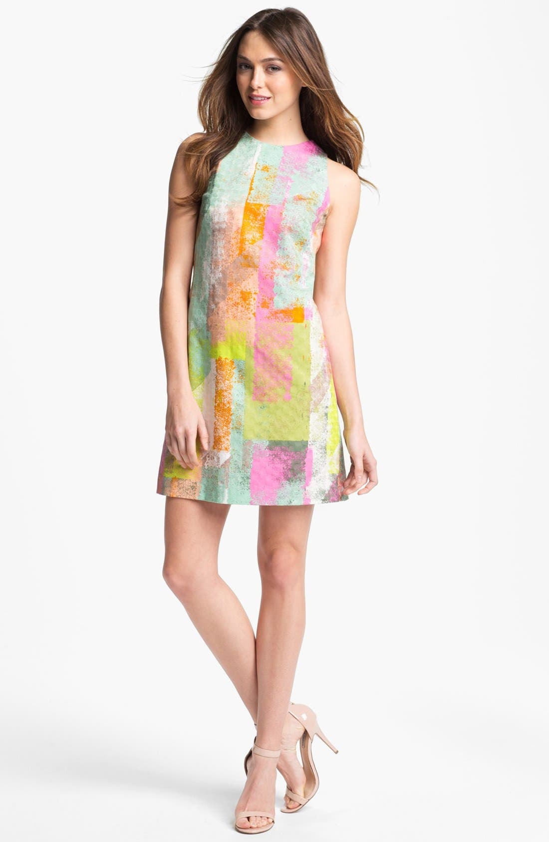 Alternate Image 1 Selected - Maggy London Print Shift Dress