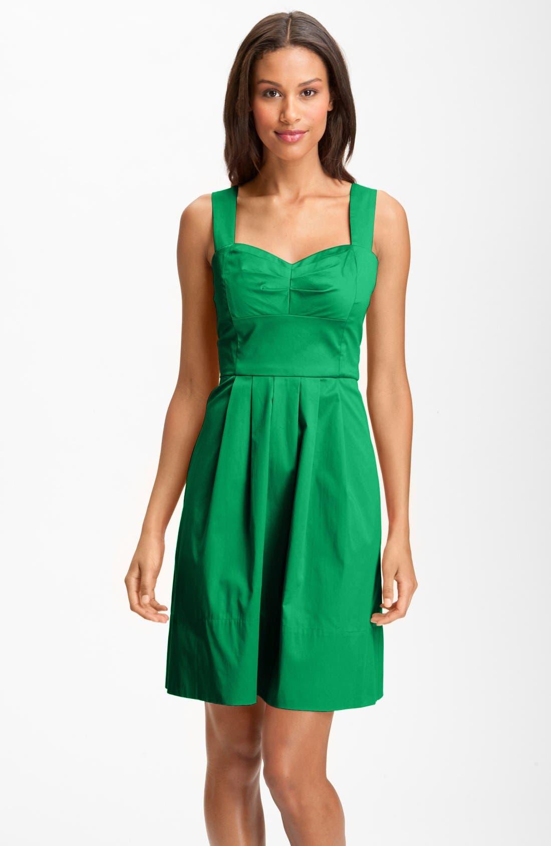 Main Image - Donna Ricco Stretch Cotton Party Dress