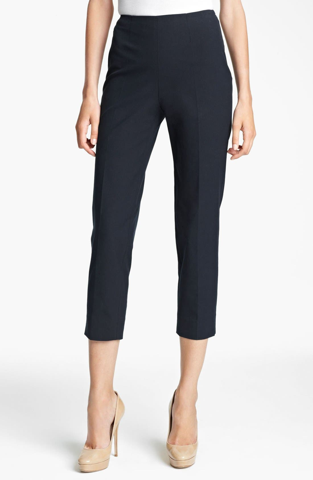Main Image - Piazza Sempione 'Audrey' Stretch Wool Crop Pants