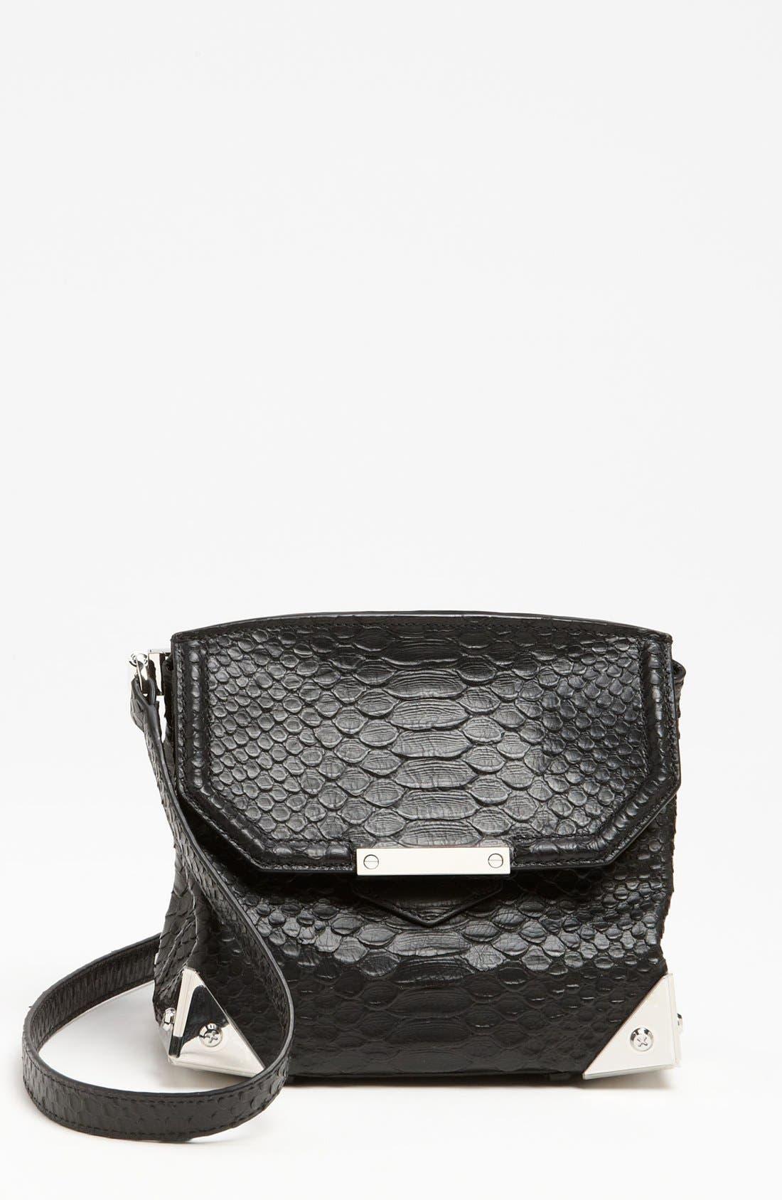 Alternate Image 1 Selected - Alexander Wang 'Marion - Prisma' Python Embossed Leather Crossbody Bag