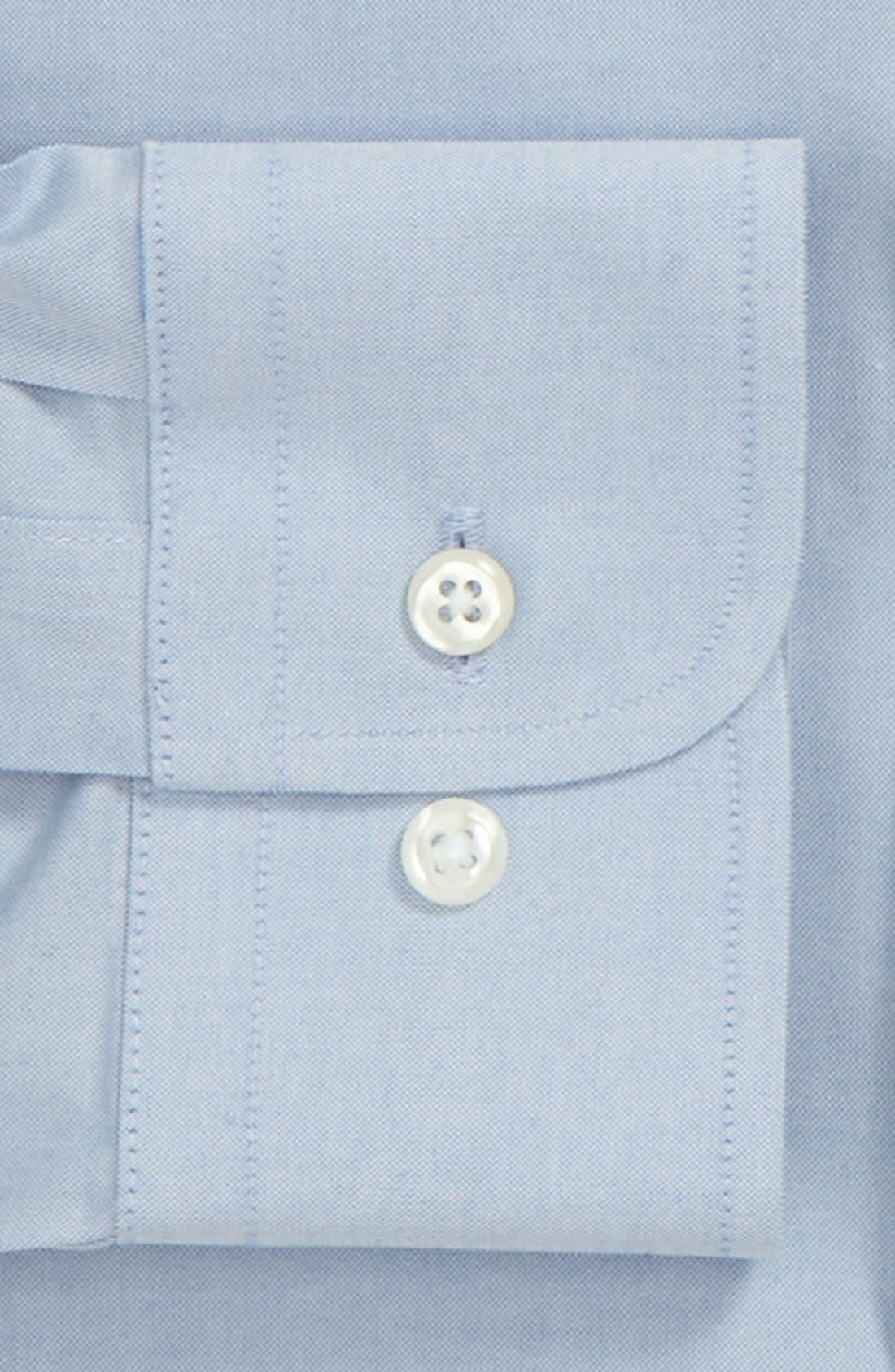 Smartcare<sup>™</sup> Trim Fit Solid Dress Shirt,                             Alternate thumbnail 2, color,                             Blue