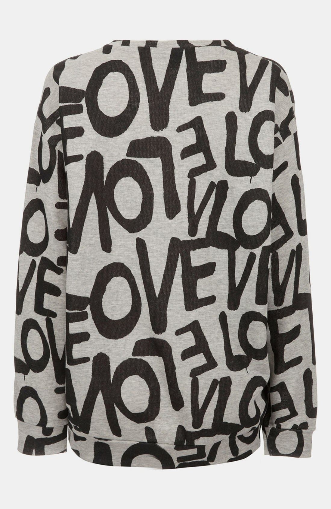 Alternate Image 2  - Topshop 'Love' Maternity Sweatshirt