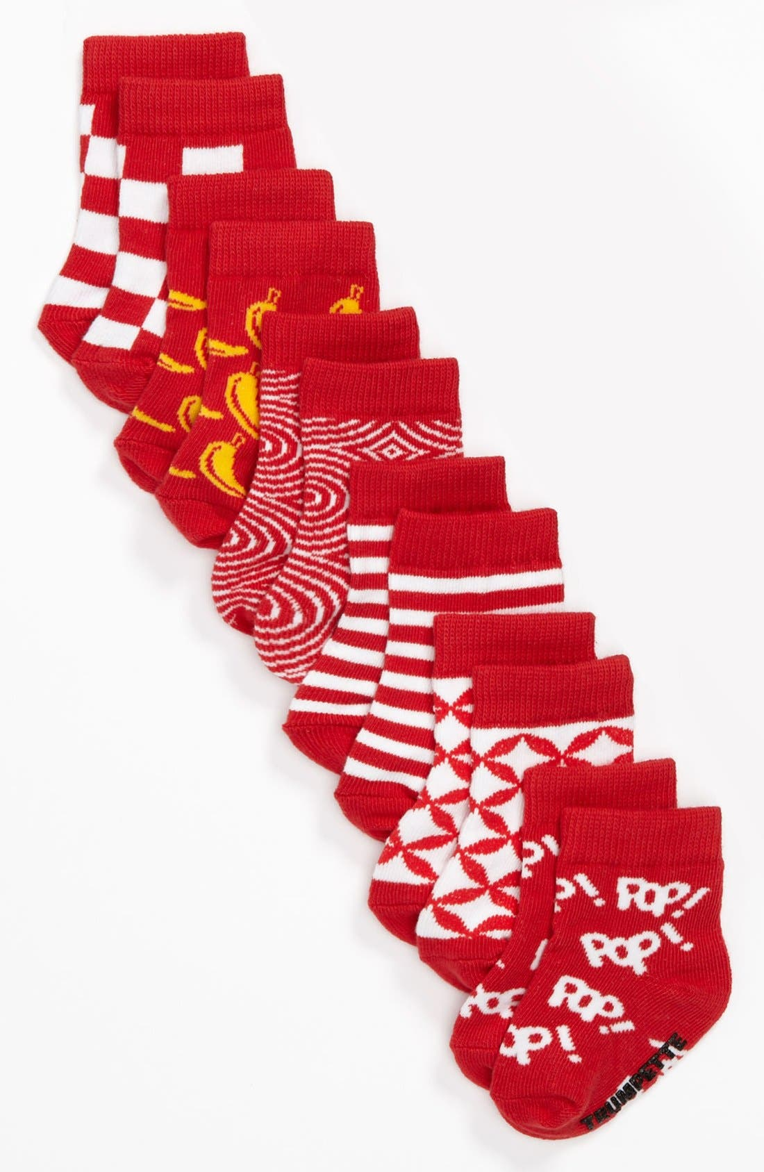 Alternate Image 2  - Trumpette 'Pop Socks in a Tin Can' Sock Set (6-Pack)(Baby Boys)