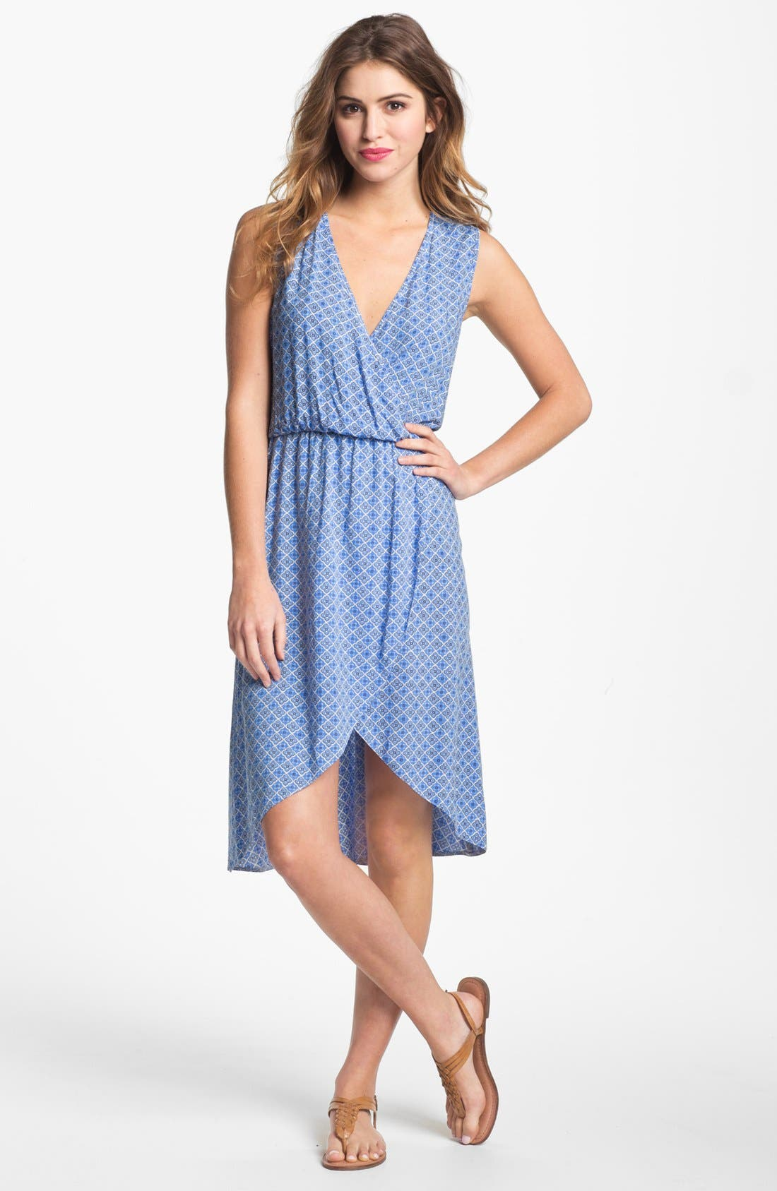Main Image - Two by Vince Camuto Cutout Faux Wrap Dress