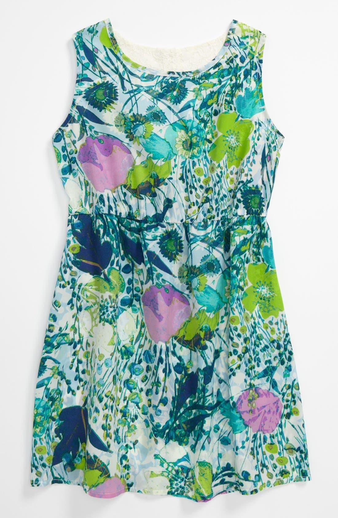 Main Image - Mia Chica Floral Dress (Little Girls & Big Girls)