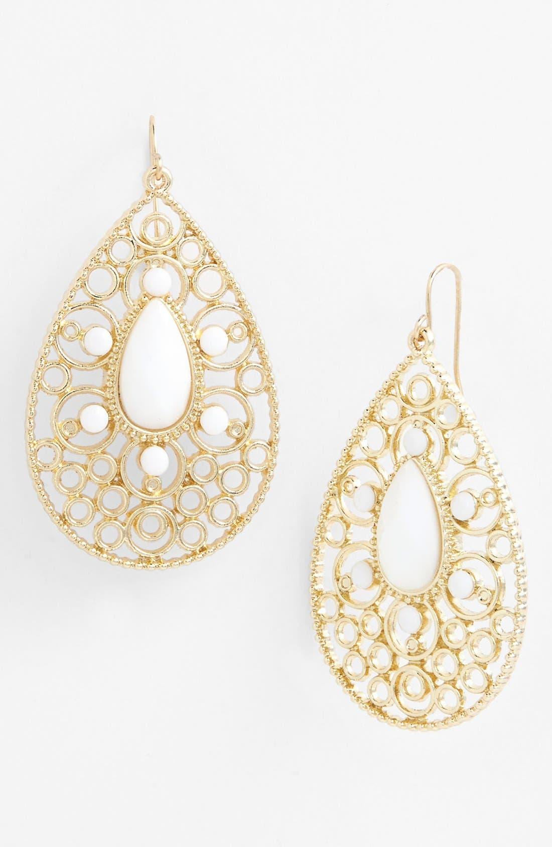 Main Image - Tasha Filigree Teardrop Earrings