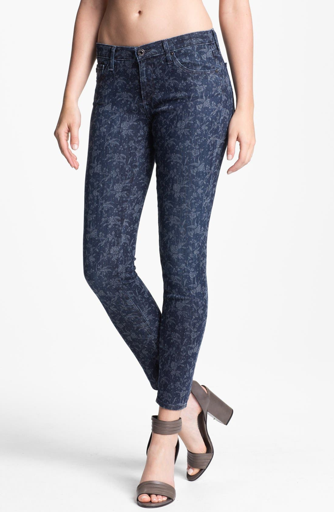 Alternate Image 1 Selected - AG Jeans 'Liberty of London' Print Denim Ankle Legging (Denim Hyde)