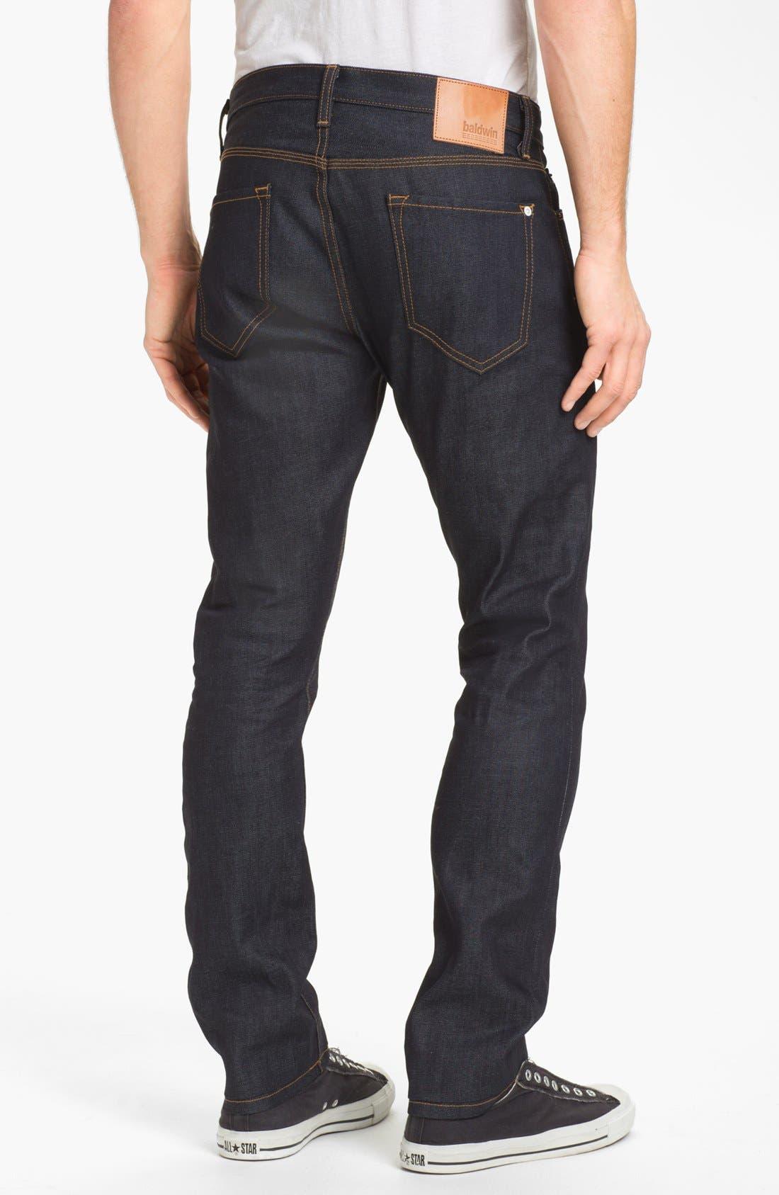 Alternate Image 2  - Baldwin 'Henley' Slim Fit Selvedge Jeans (Dry)