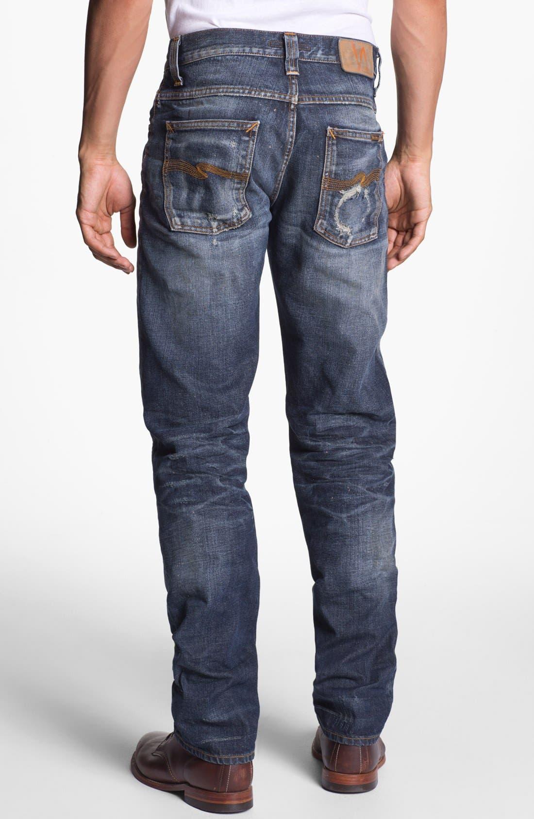 Alternate Image 1 Selected - Nudie 'Alf' Slim Straight Leg Jeans (Organic Larry Replica)