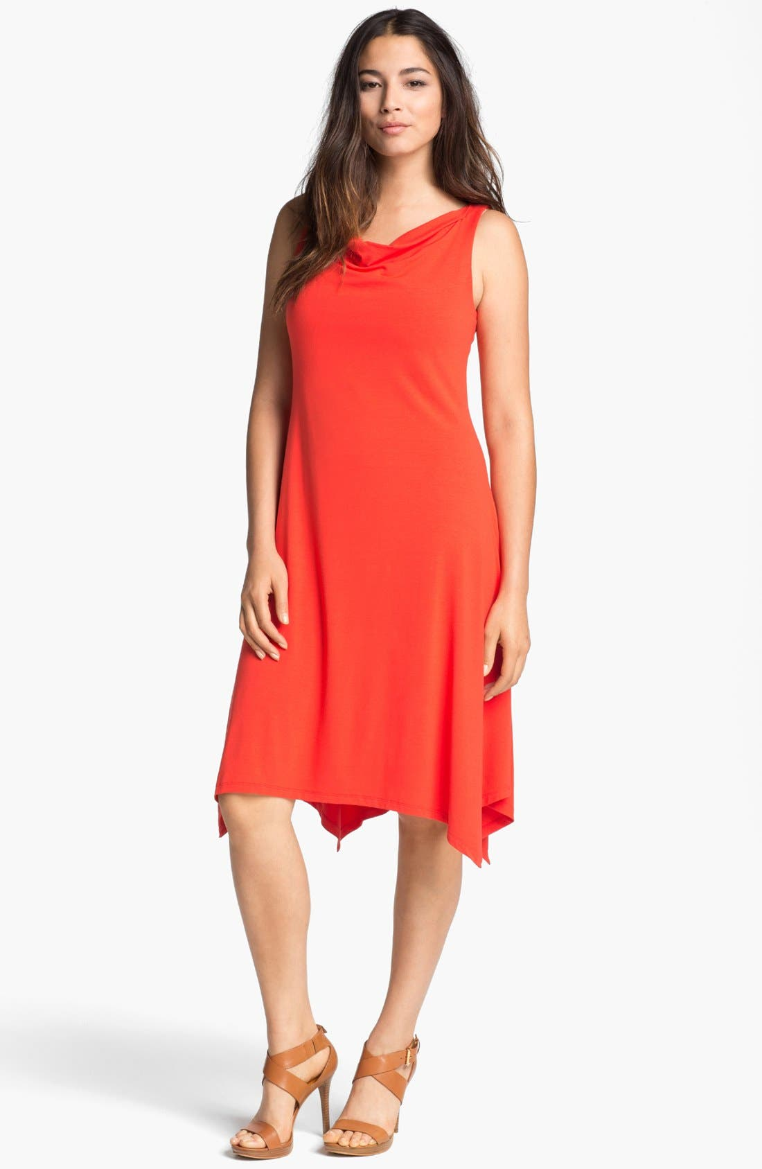 Main Image - Eileen Fisher Cowl Neck Dress (Regular & Petite)