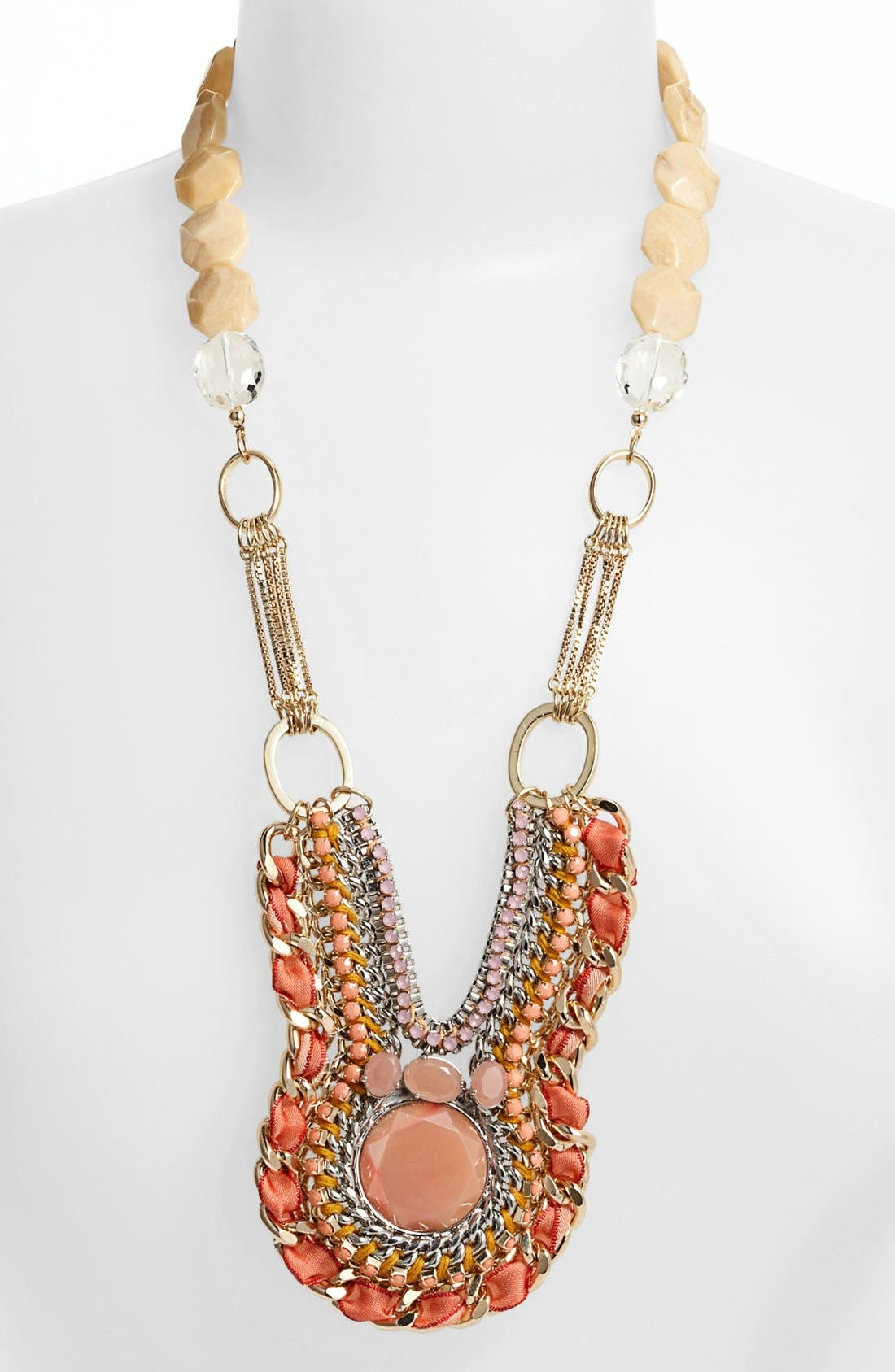 Alternate Image 2  - Lydell NYC Mixed Media Statement Bib Necklace
