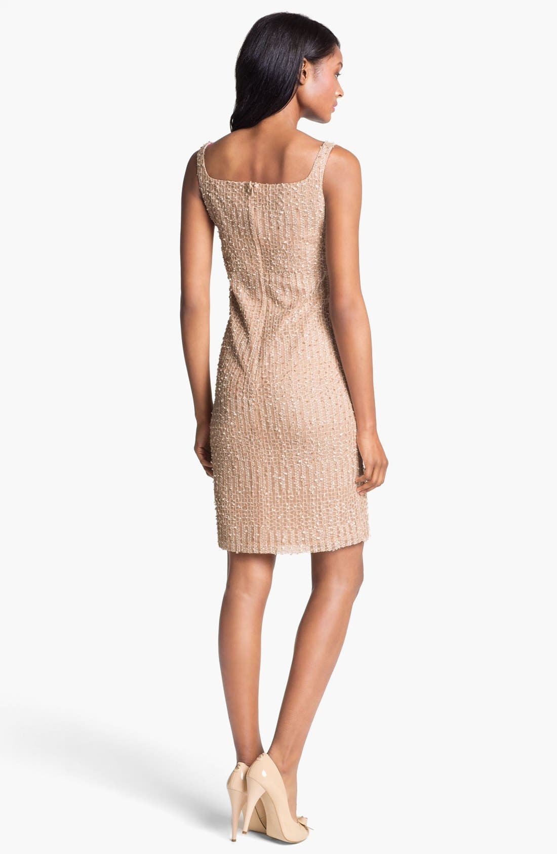 Alternate Image 2  - Isaac Mizrahi New York Embellished Sleeveless Mesh Dress