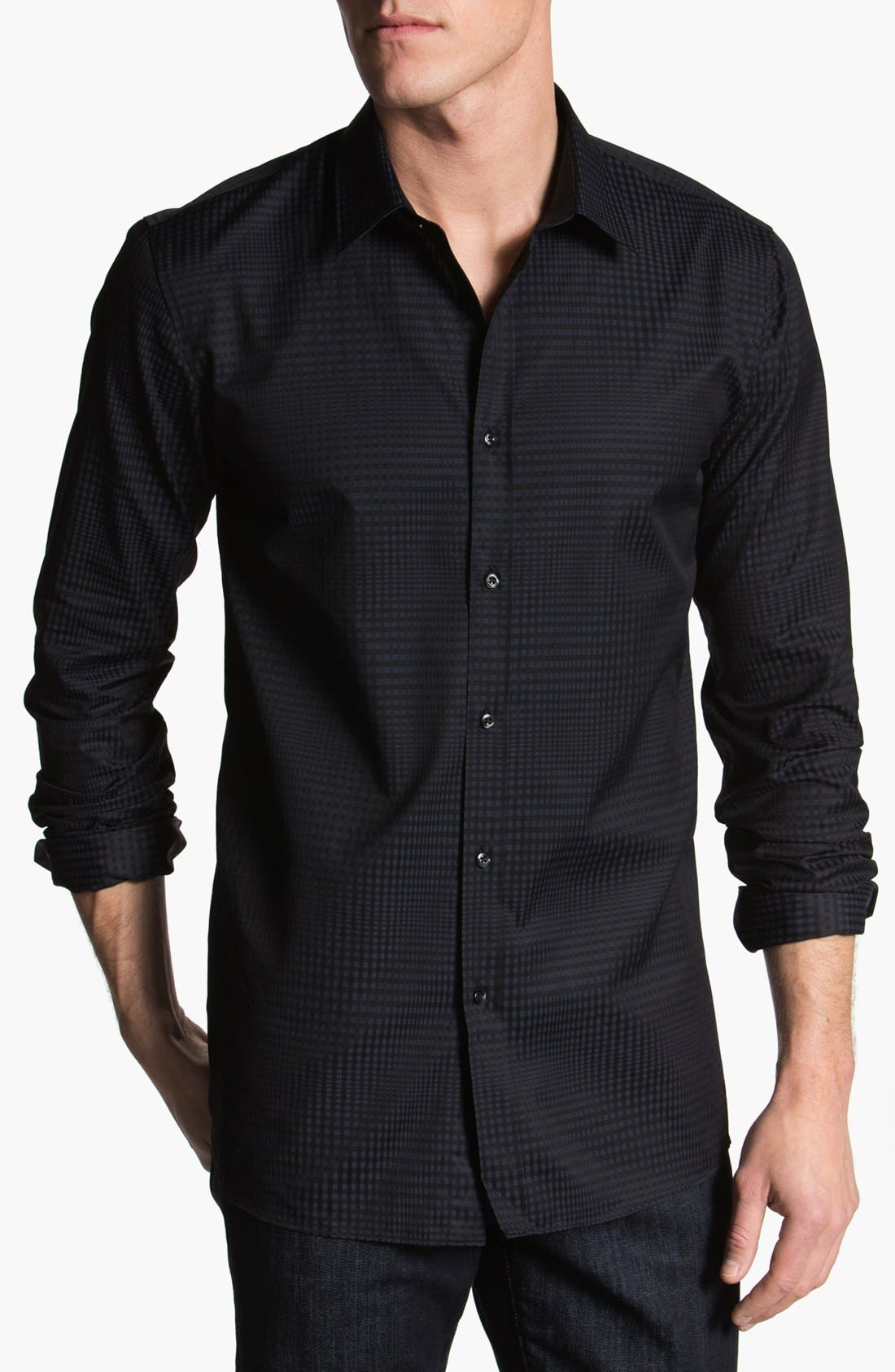 Alternate Image 1 Selected - HUGO Trim Fit Sport Shirt