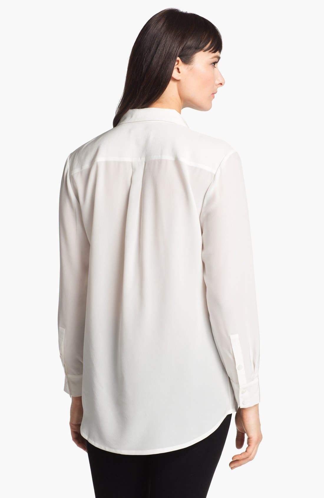 Alternate Image 2  - Nordstrom Collection 'Novita' Silk Tunic Shirt