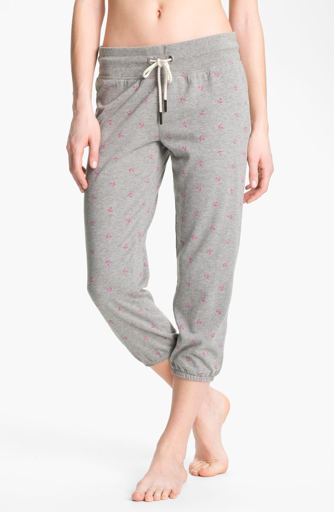Alternate Image 1 Selected - Roxy 'Randomness' Cropped Fleece Pants