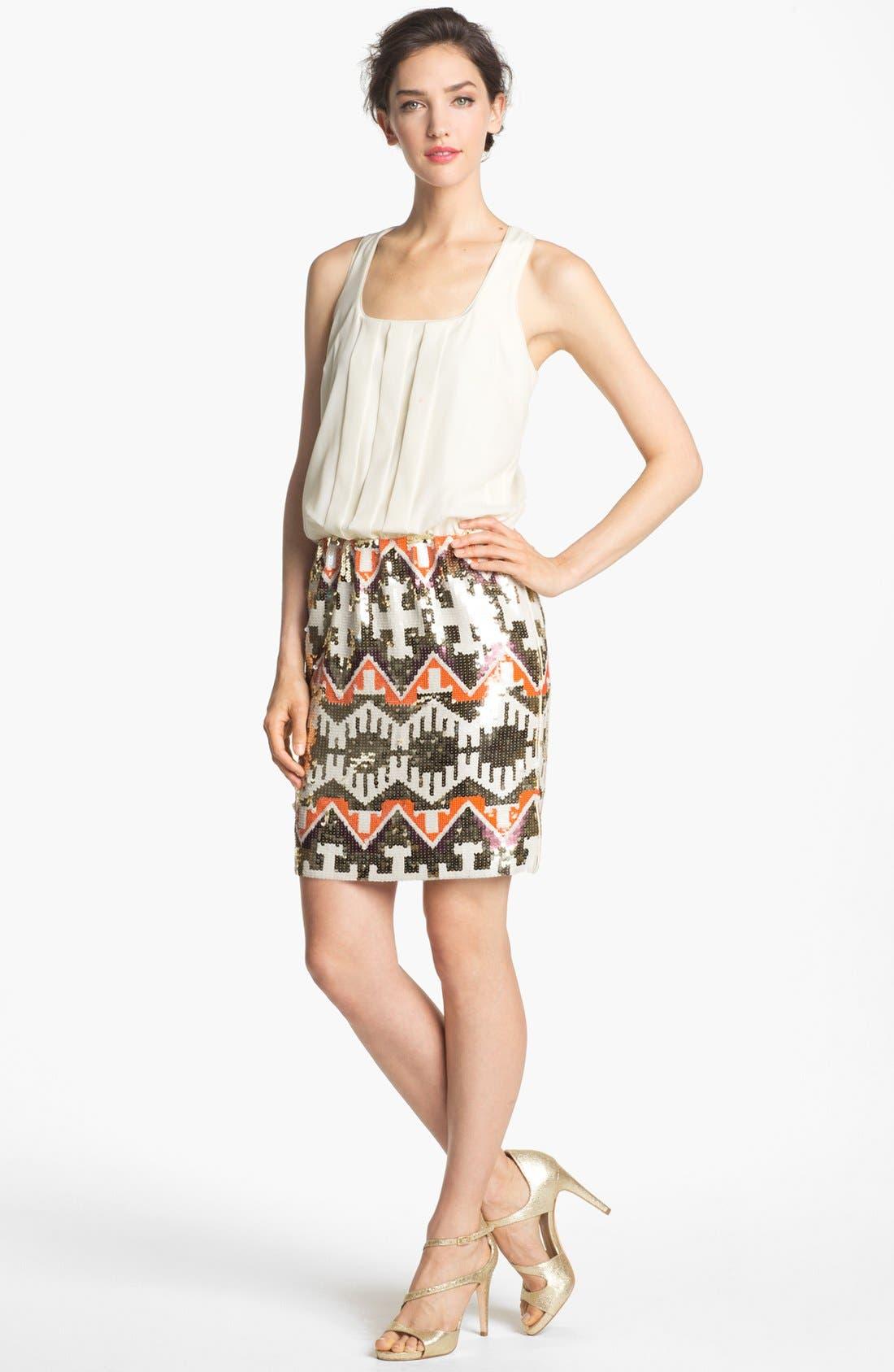 Alternate Image 1 Selected - Jessica Simpson Racerback Blouson Sequin Skirt Dress