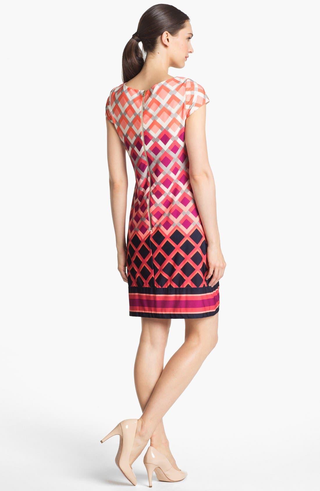 Alternate Image 2  - Eliza J Print Cap Sleeve Jersey Shift Dress