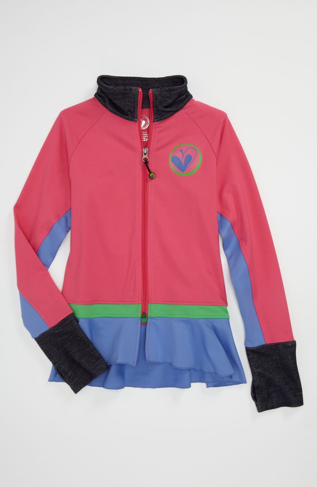 Main Image - Limeapple Ruffle Jacket (Little Girls & Big Girls)