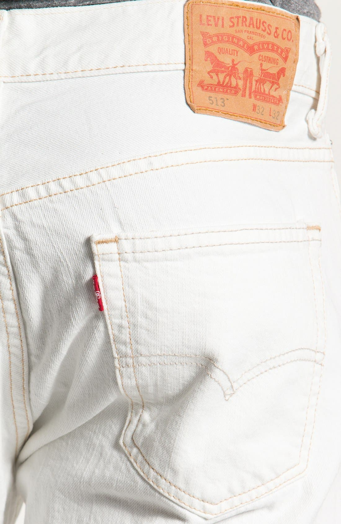 Alternate Image 3  - Levi's® '513™' Slim Fit Jeans (Bright White)