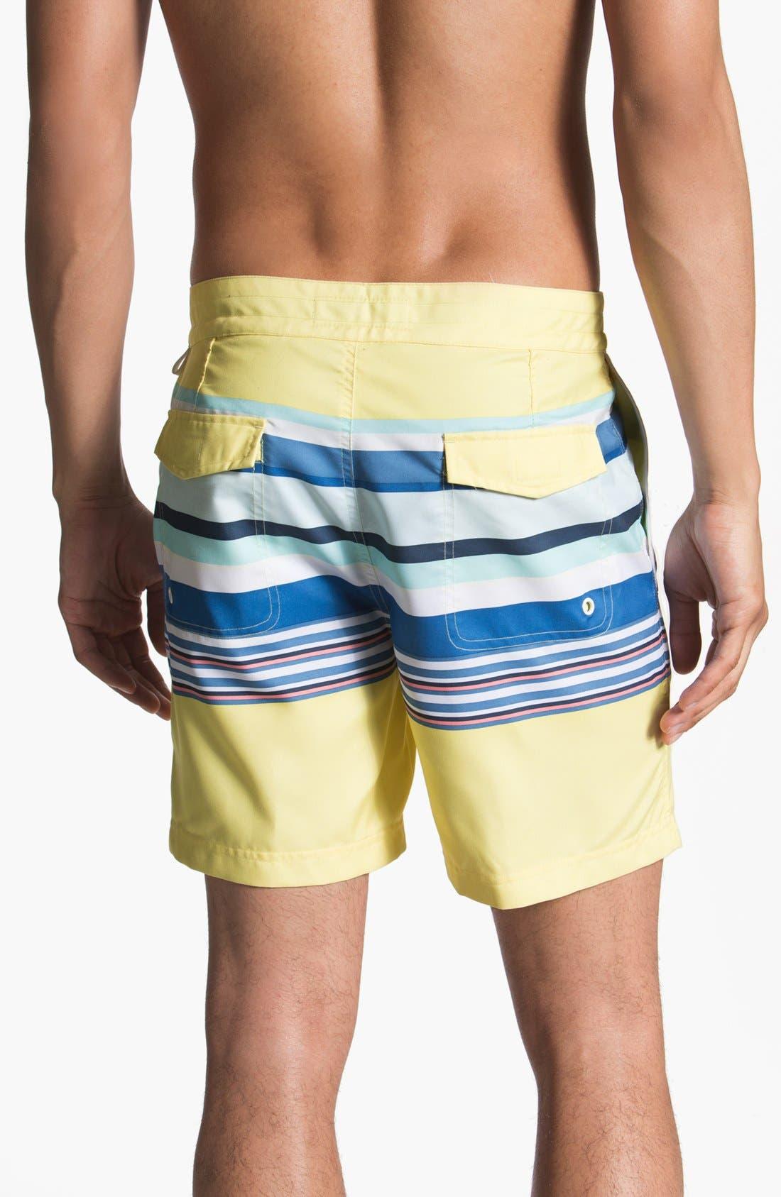 Alternate Image 2  - Original Penguin Stripe Print Swim Shorts