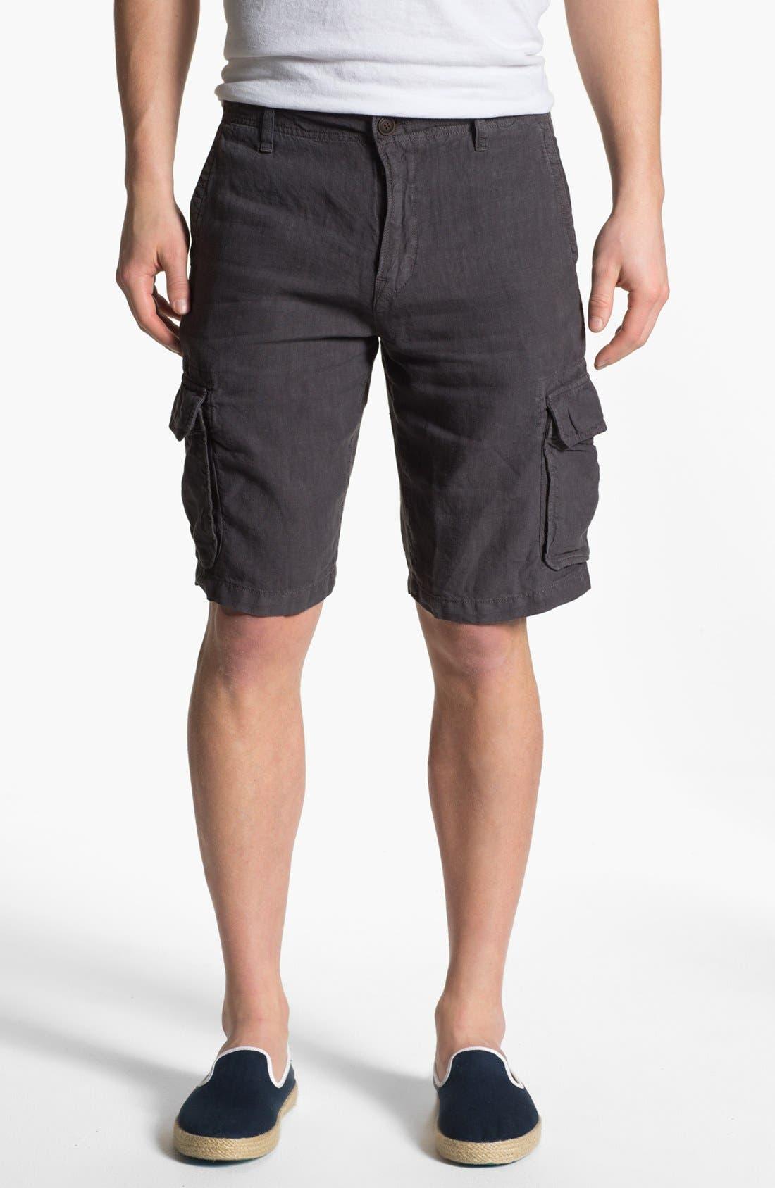Alternate Image 1 Selected - Lucky Brand 'Long Beach' Linen Cargo Shorts