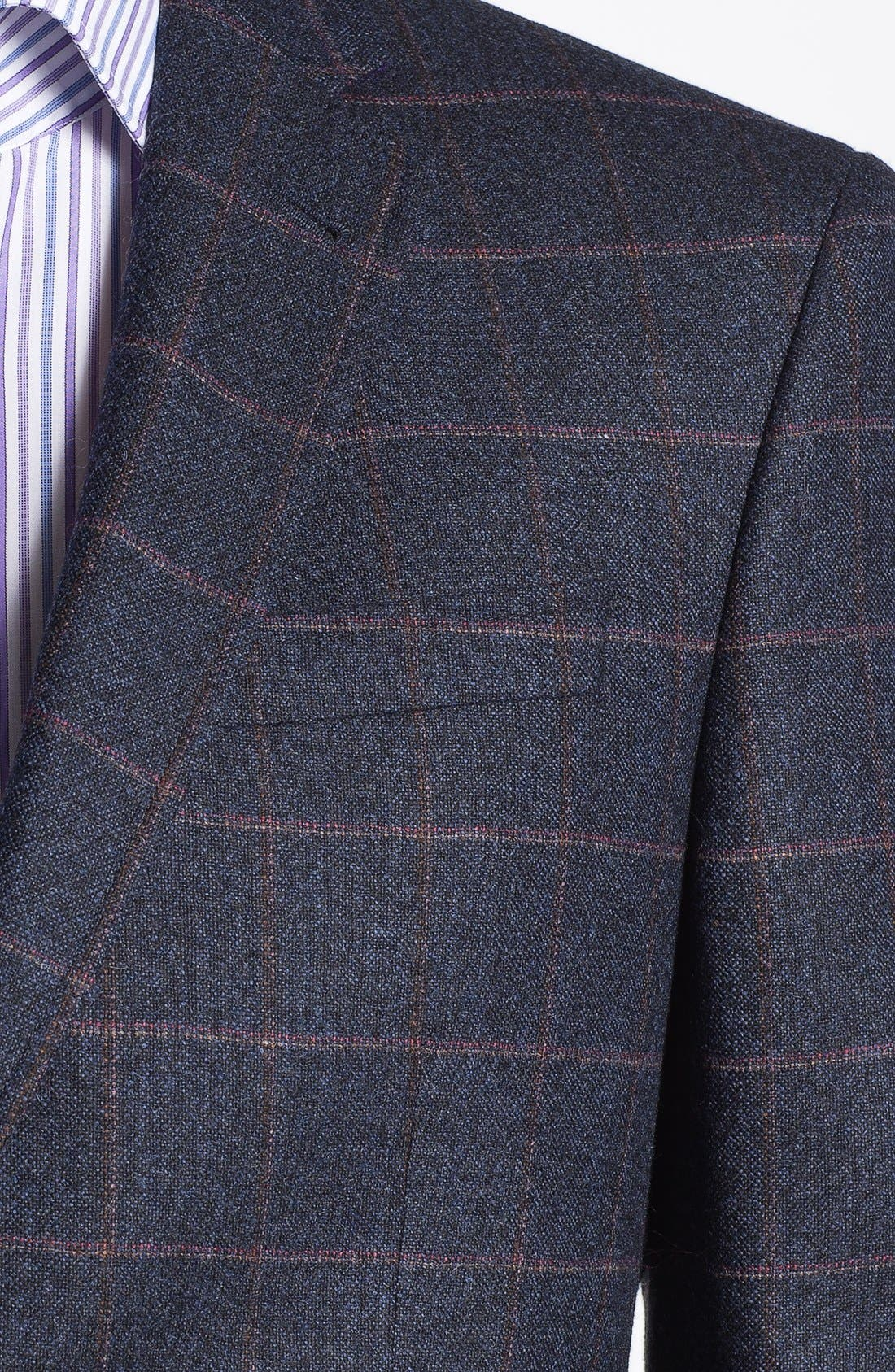 Alternate Image 2  - Ted Baker London 'Jim' Trim Fit Plaid Sportcoat (Online Only)