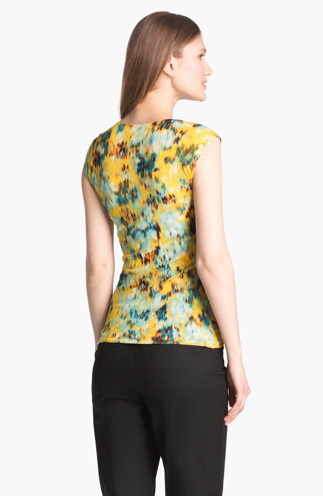Alternate Image 2  - Classiques Entier® Ruffled Print Mesh Top