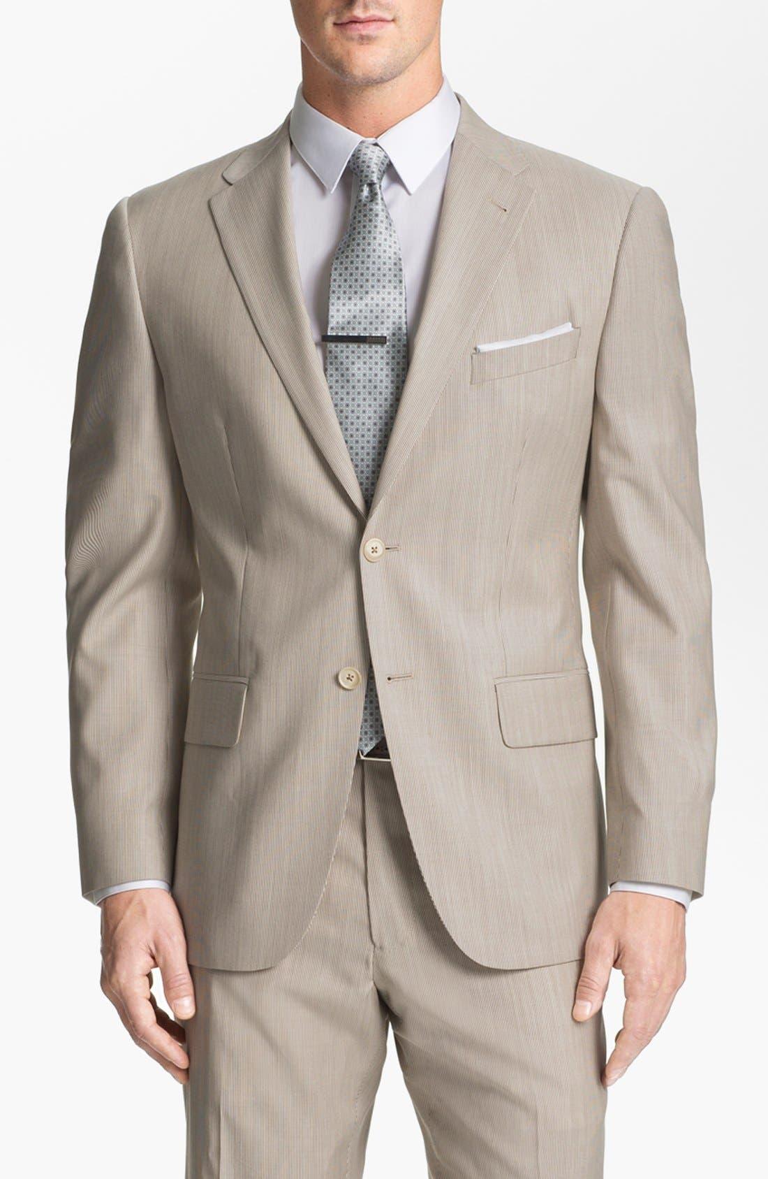 Alternate Image 4  - Joseph Abboud Trim Fit Stripe Wool Suit