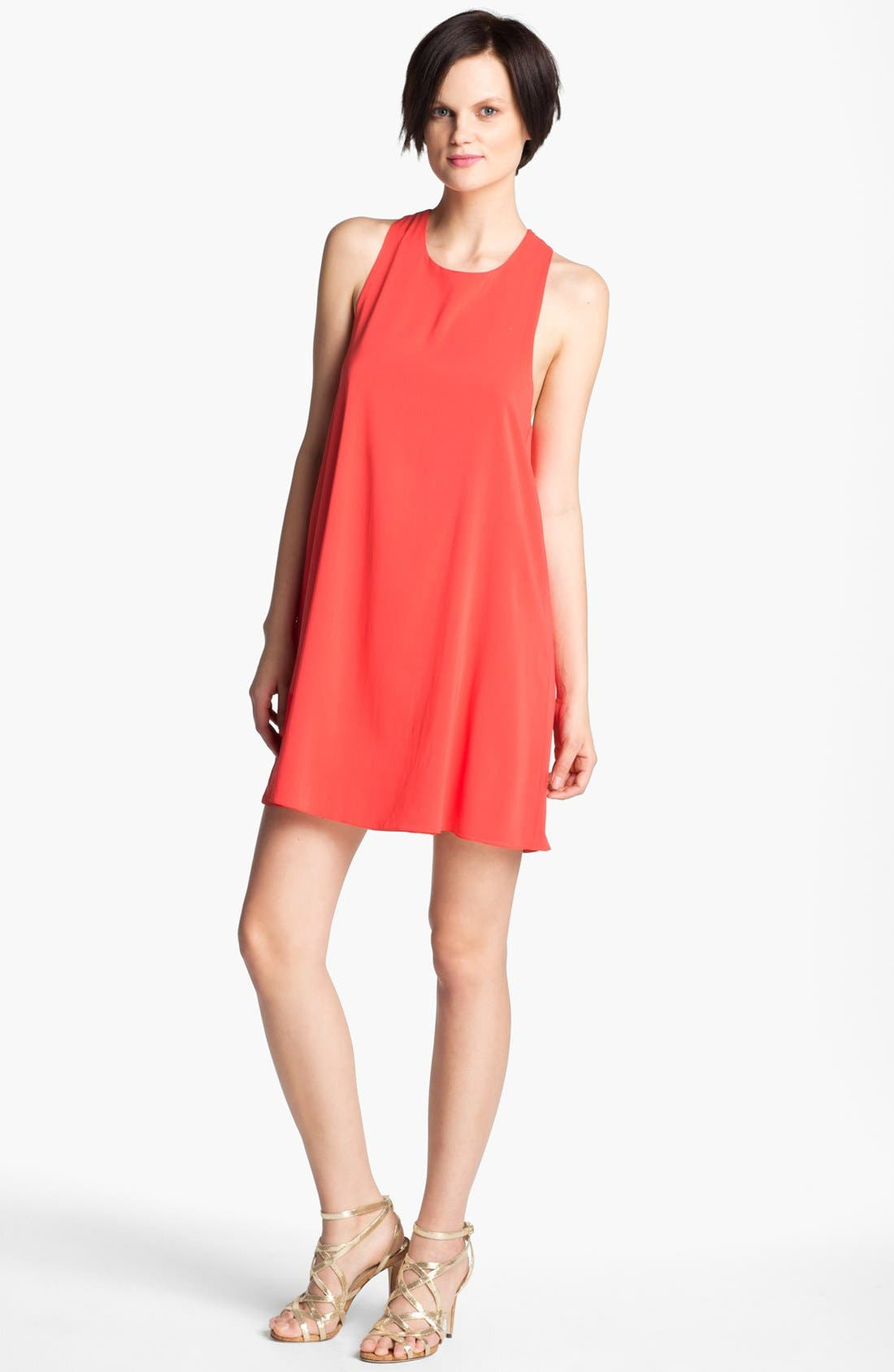 Alternate Image 1 Selected - Alice + Olivia 'Liz' Silk Shift Dress