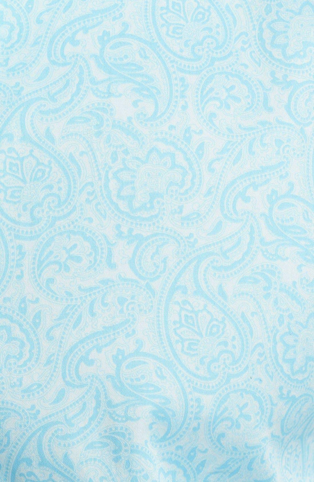 Alternate Image 4  - Bugatchi Paisley Shaped Fit Cotton Sport Shirt