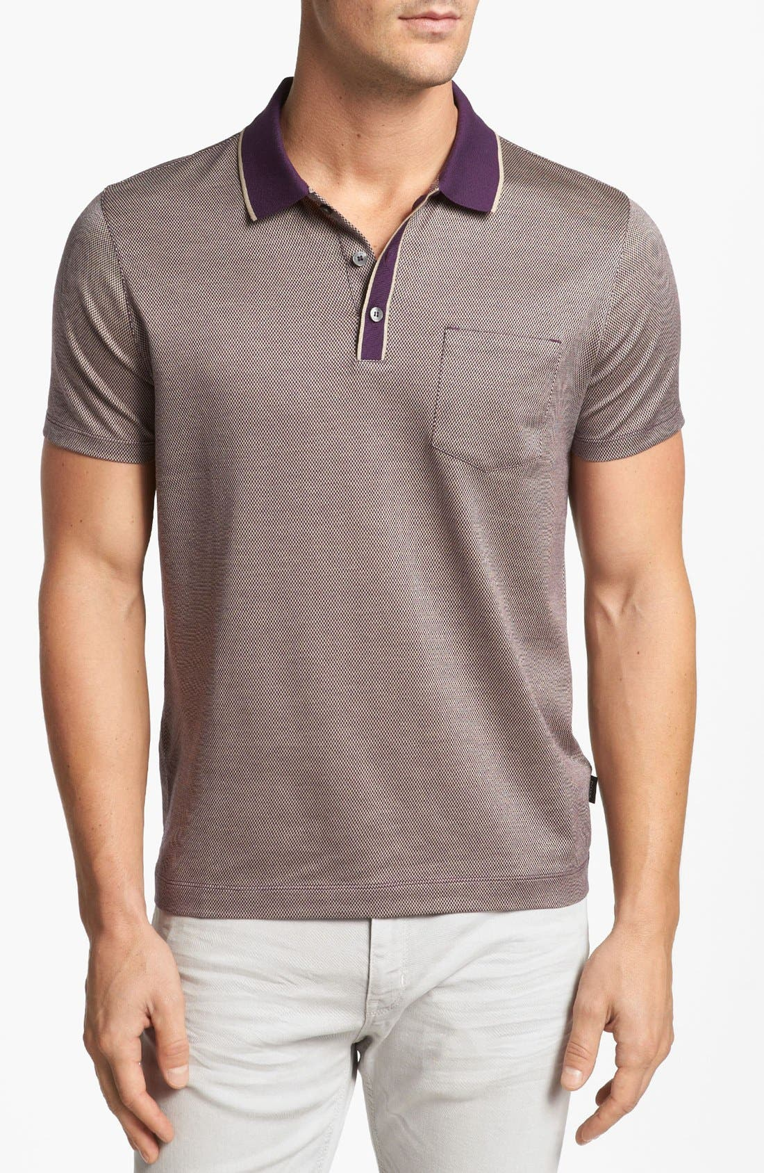 Alternate Image 1 Selected - BOSS HUGO BOSS 'Janis' Regular Fit Polo