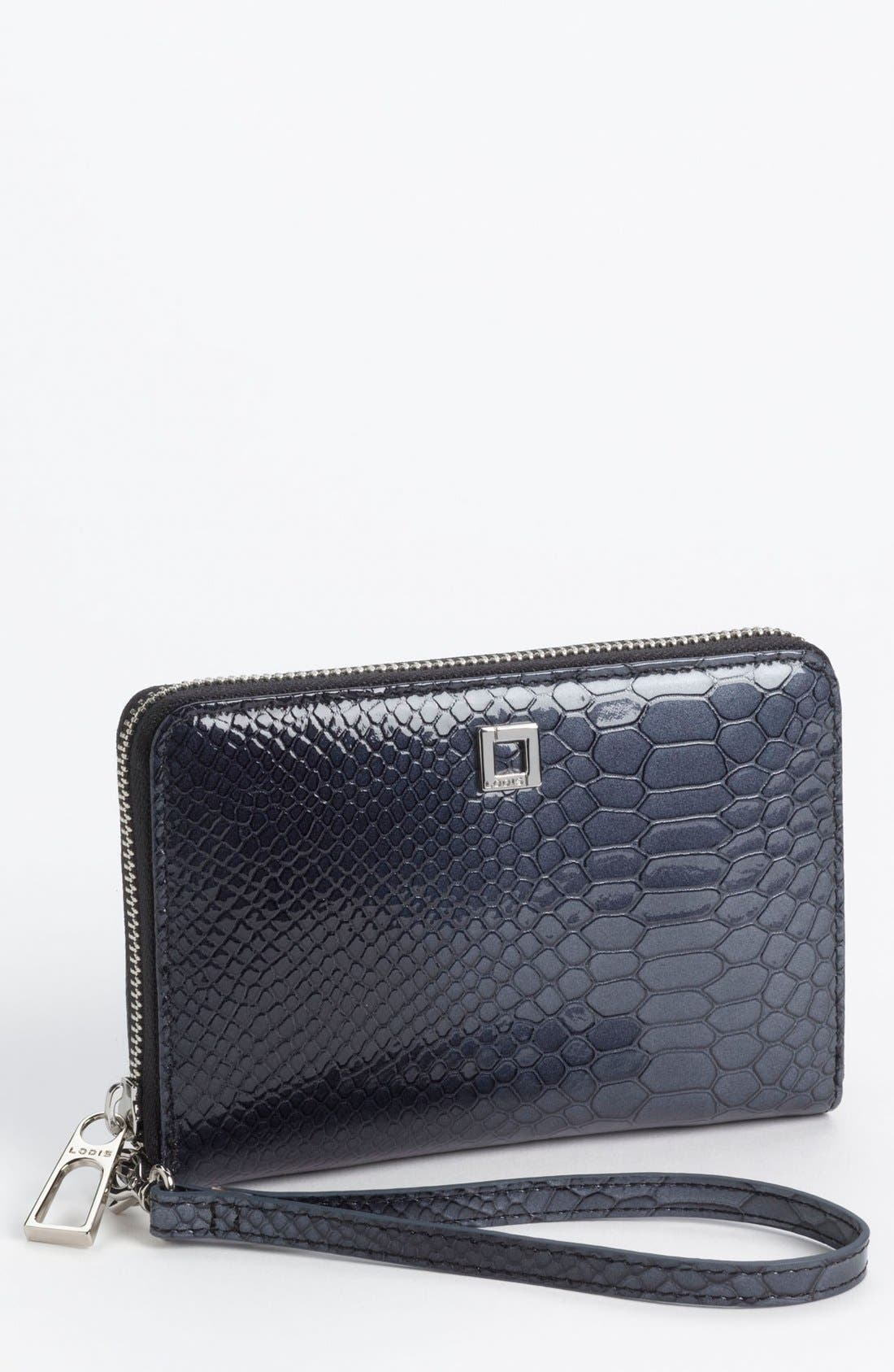 Alternate Image 1 Selected - Lodis 'Fiona' Embossed Phone Wristlet