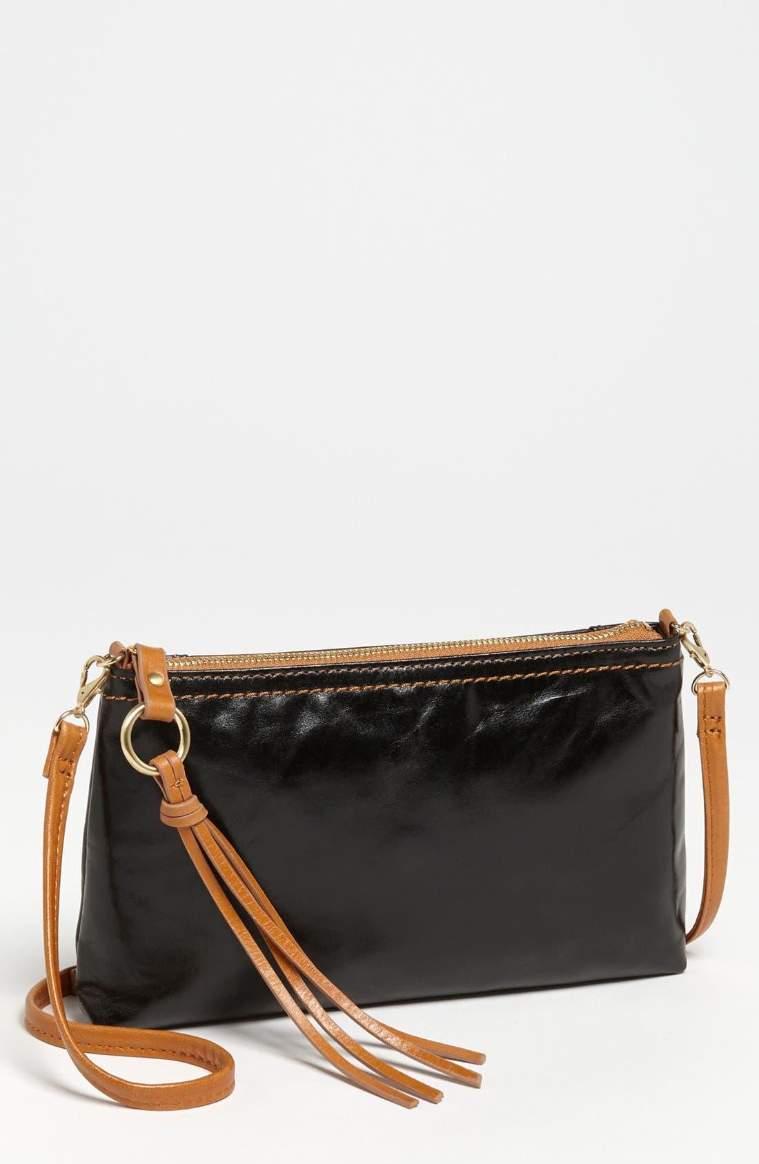 'Darcy' Leather Crossbody Bag,                             Main thumbnail 1, color,                             Black