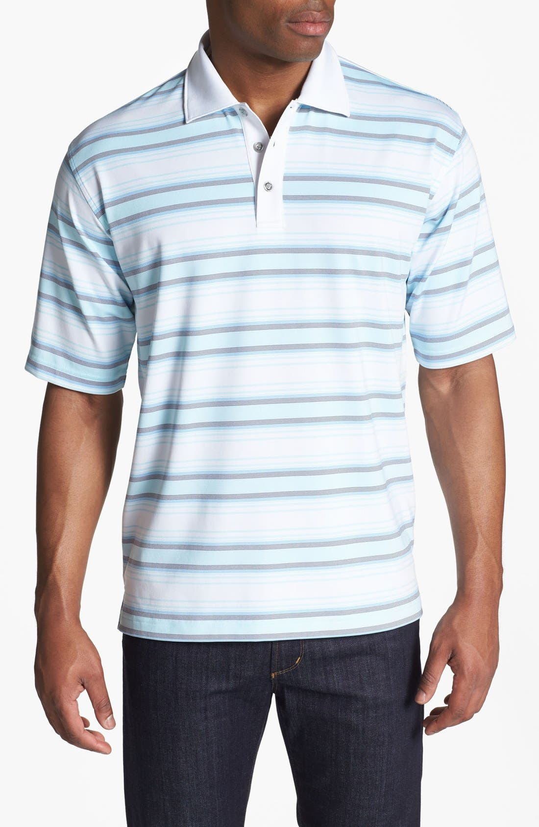 Alternate Image 1 Selected - Lone Cypress Pebble Beach Striped Polo Shirt