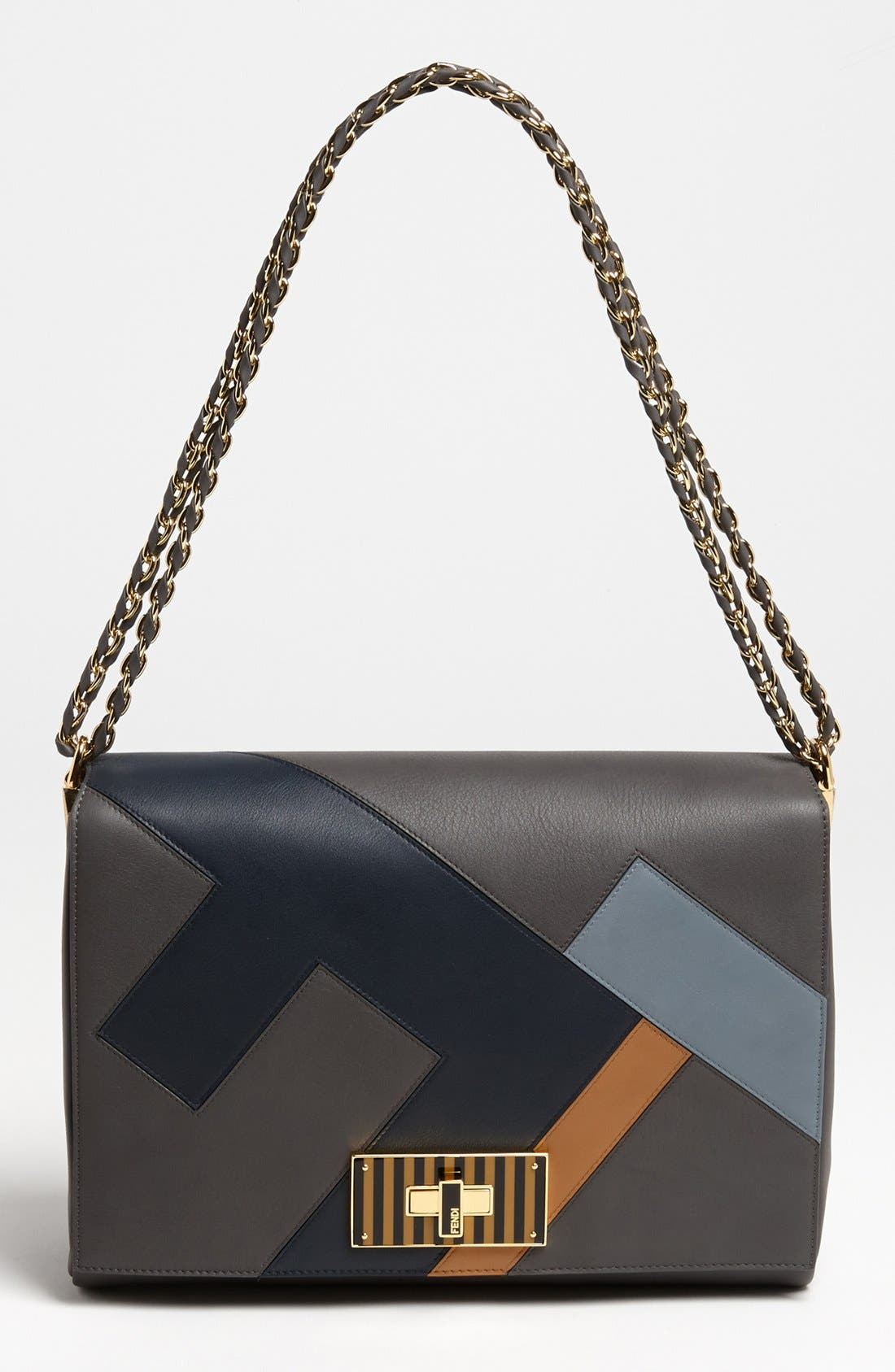Alternate Image 1 Selected - Fendi 'Claudia - Medium' Leather Shoulder Bag