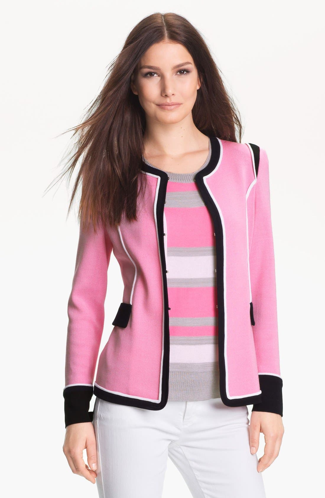 Alternate Image 1 Selected - Exclusively Misook 'Emily' Jacket (Petite) (Online Only)