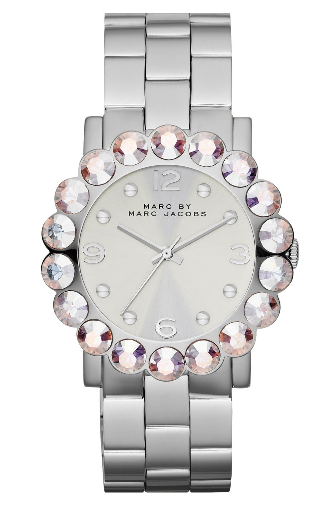 Main Image - MARC BY MARC JACOBS 'Amy Scallop' Bracelet Watch, 39mm