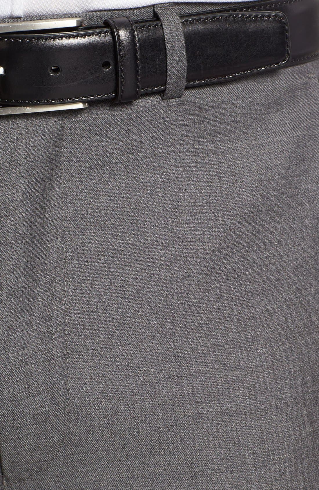 Alternate Image 3  - Santorelli Luxury Flat Front Wool Trousers