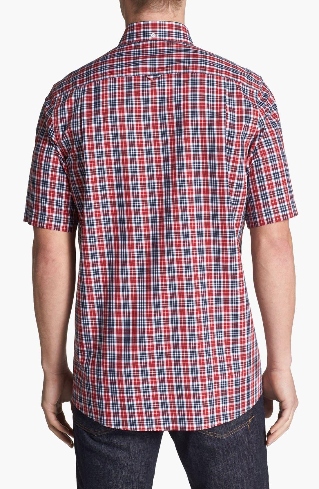 Alternate Image 2  - Nordstrom Smartcare™ Short Sleeve Poplin Sport Shirt