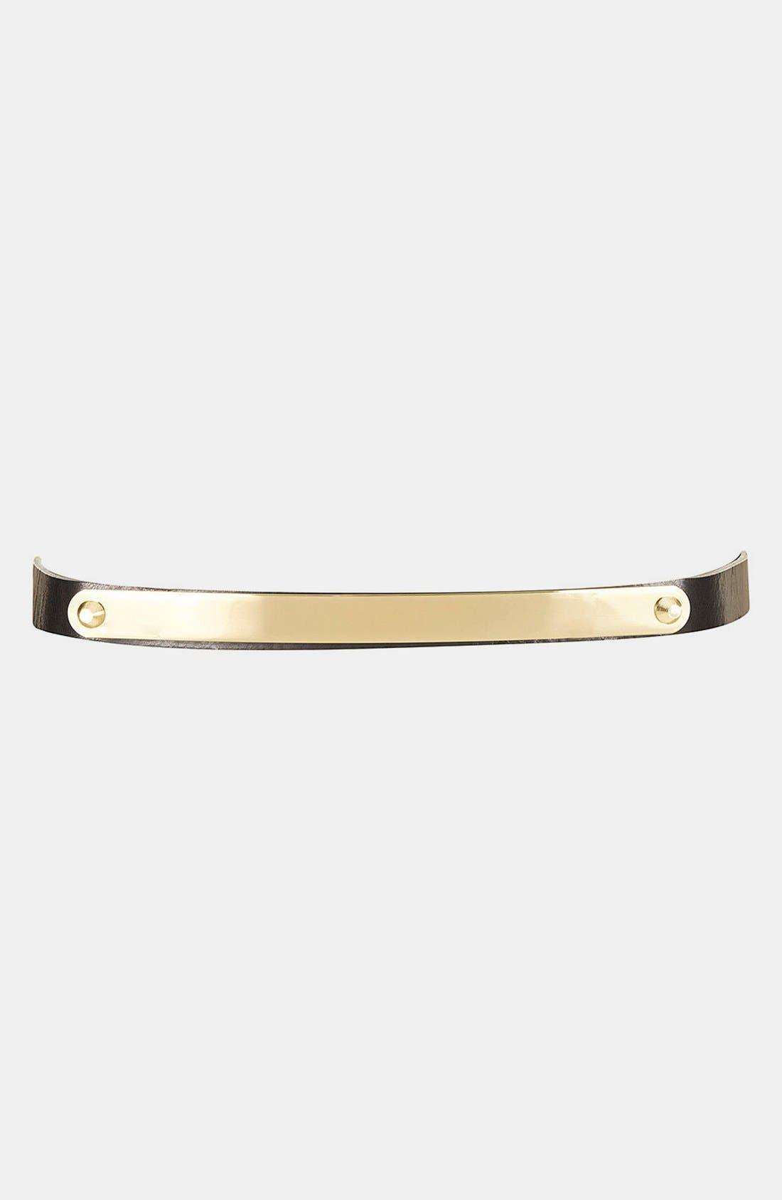 Main Image - Topshop 'Clean Metal Bar' Skinny Belt