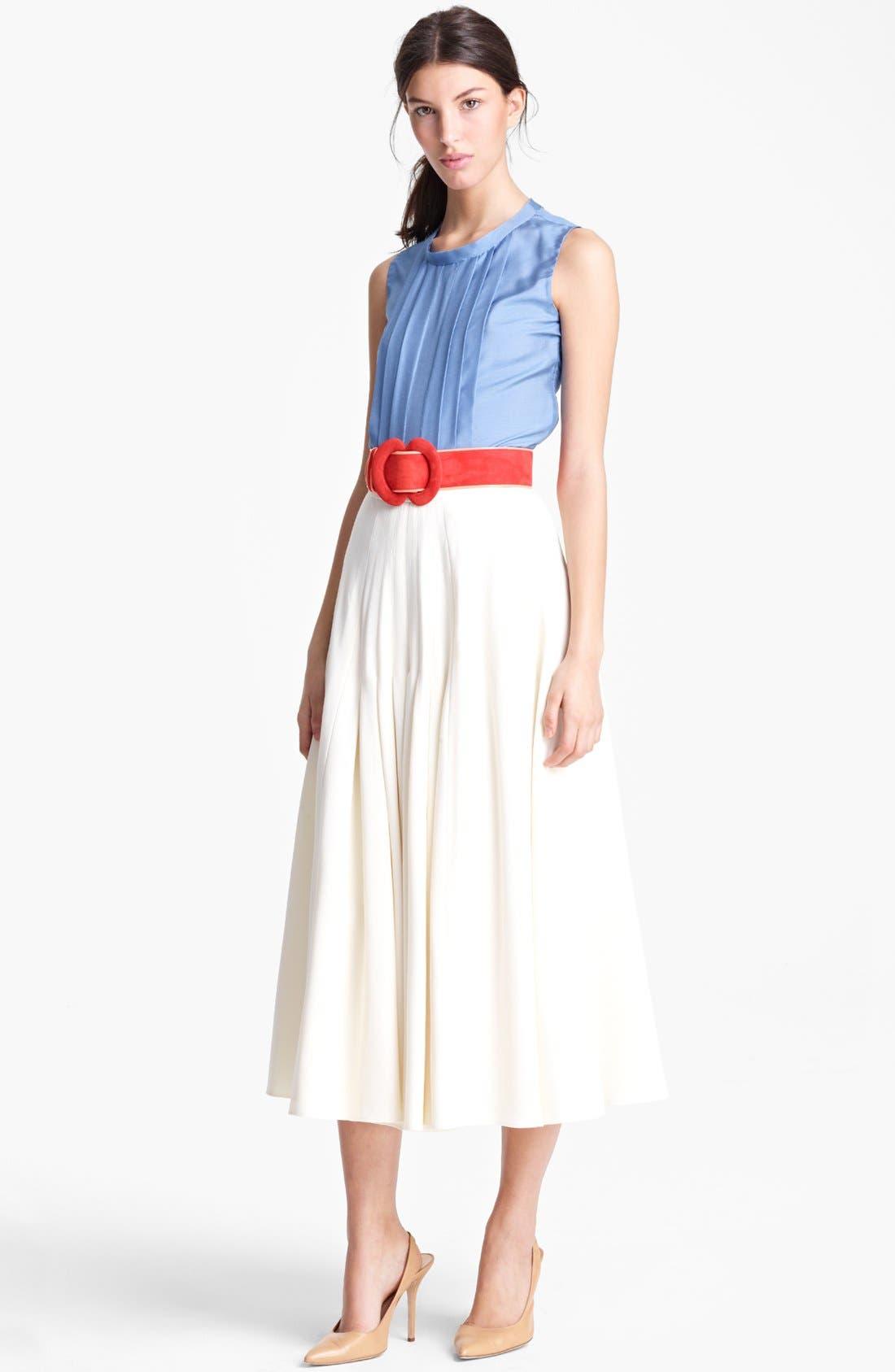 Alternate Image 2  - Oscar de la Renta Pleated Jacquard Skirt