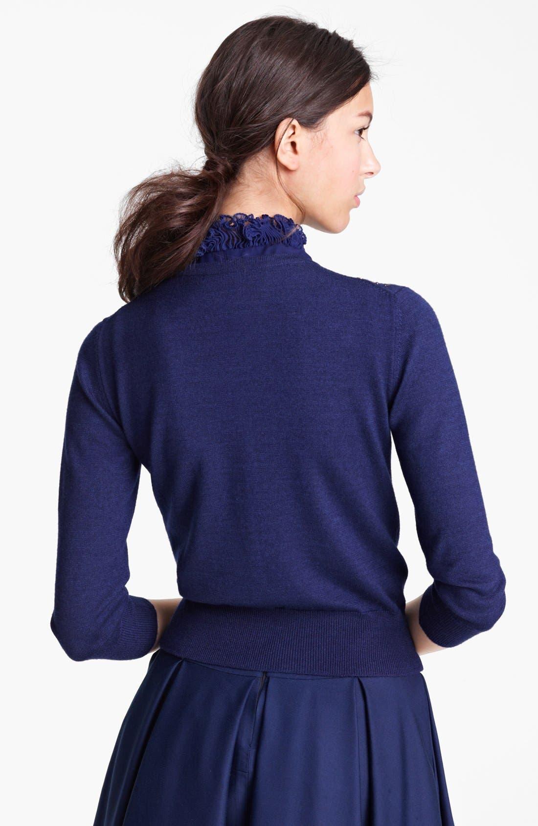 Alternate Image 3  - Oscar de la Renta Embroidered Cashmere & Silk Cardigan